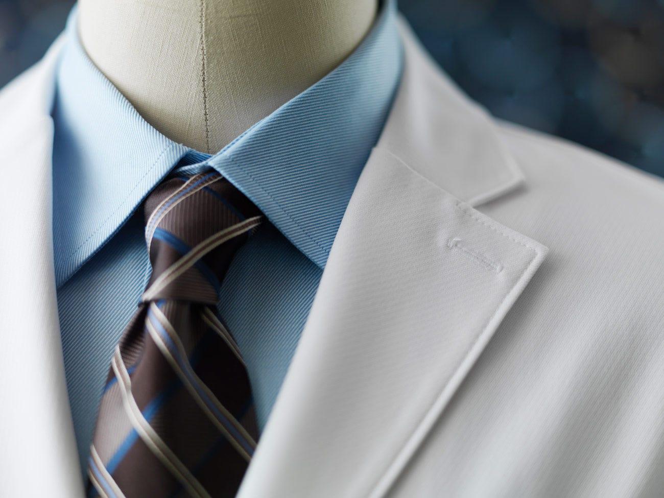 mens lab coat tie
