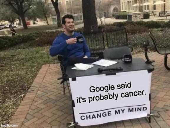 dr google cancer meme