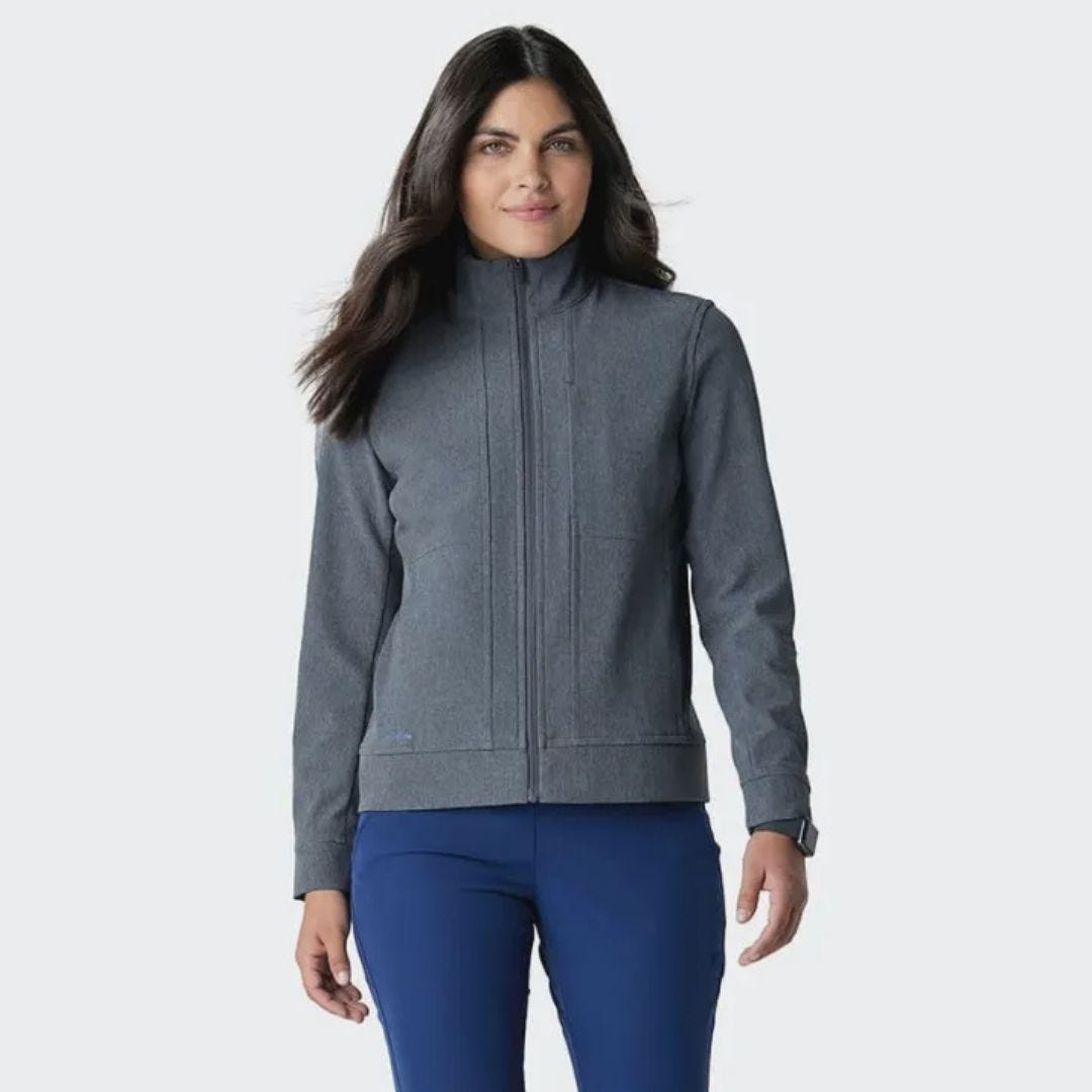 Medelita Quantum Women's Jacket in Carbon – personalized physician assistant gifts