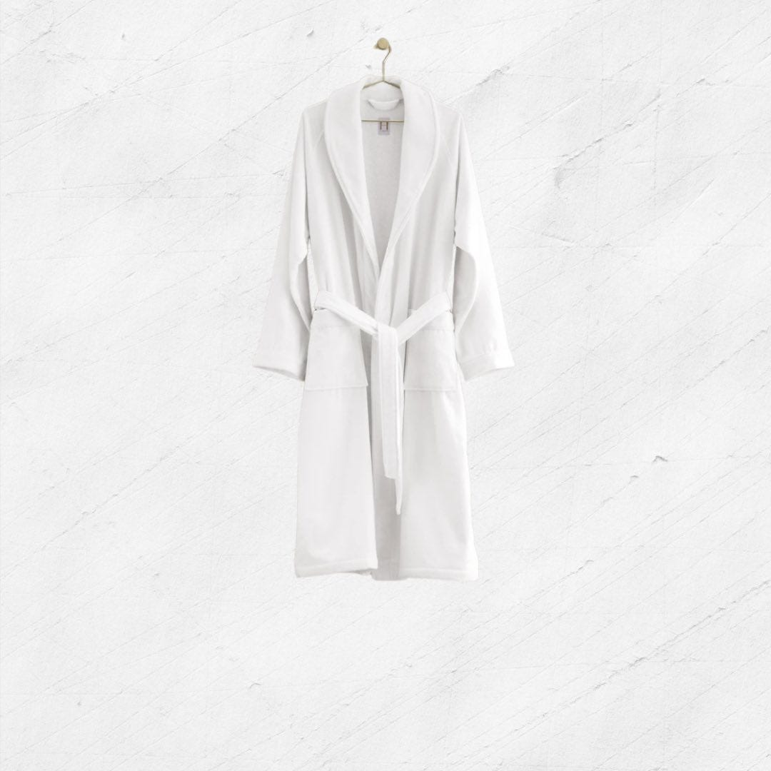 H by Frette Shawl Collar Bathrobe with Piping – physician assistant gifts