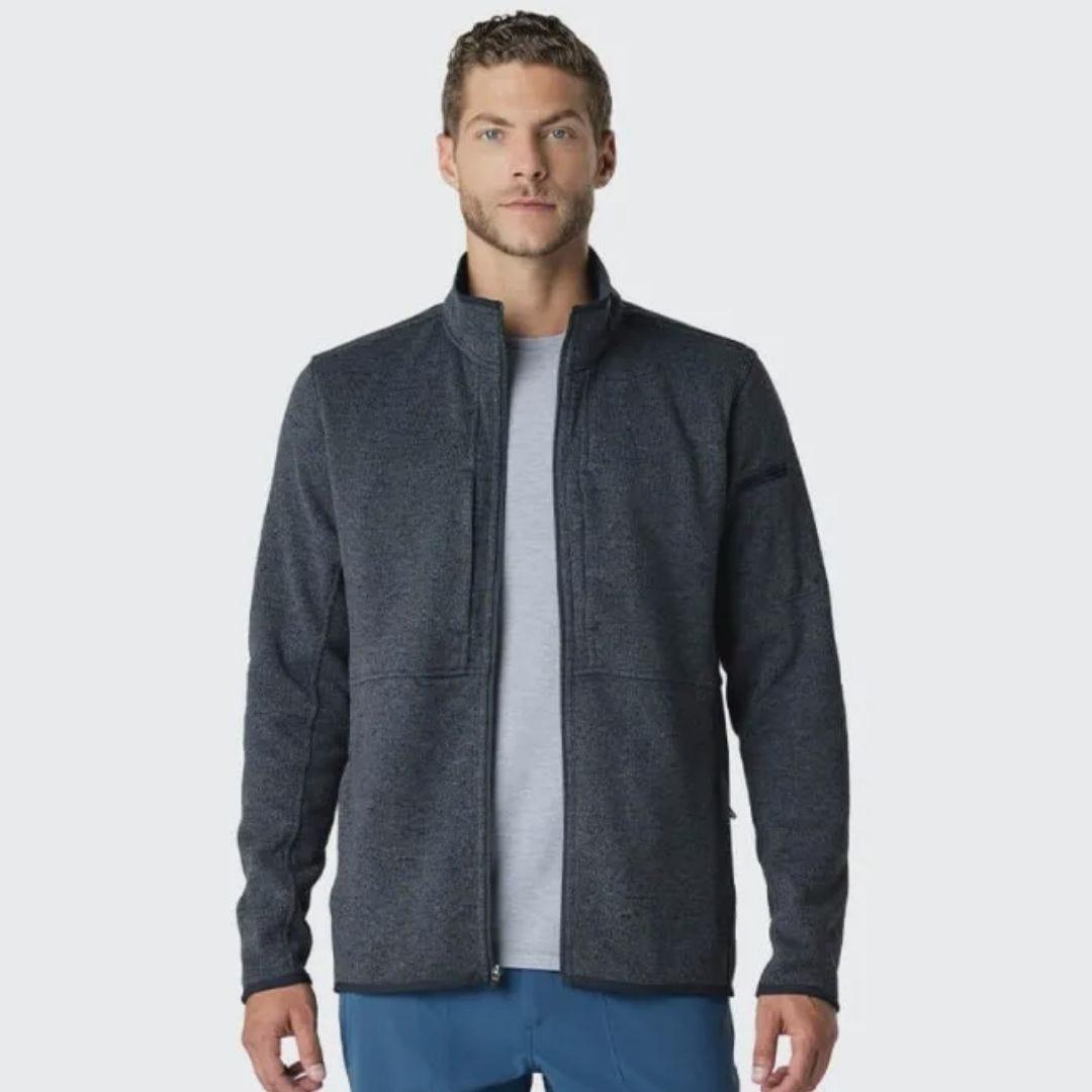 Medelita Men's Strata Performance Fleece Jacket in Iron – physician assistant gift ideas
