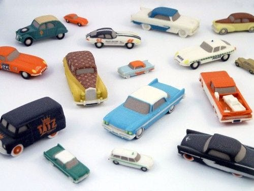 3D Printed Model Cars Image courtesy of Marc Hermans (Own work) via Wikimedia Commons