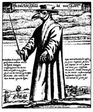 Costumes such as this were thought to protect the wearer from contracting the bubonic plague.