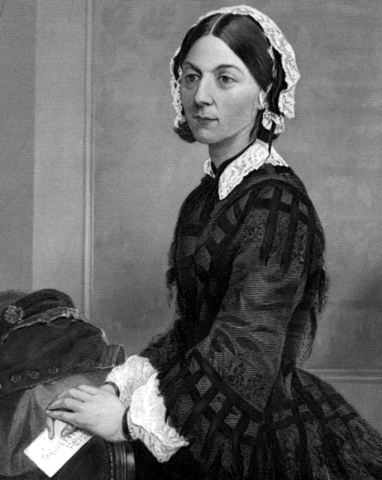 Florence Nightingale, the first modern nurse.