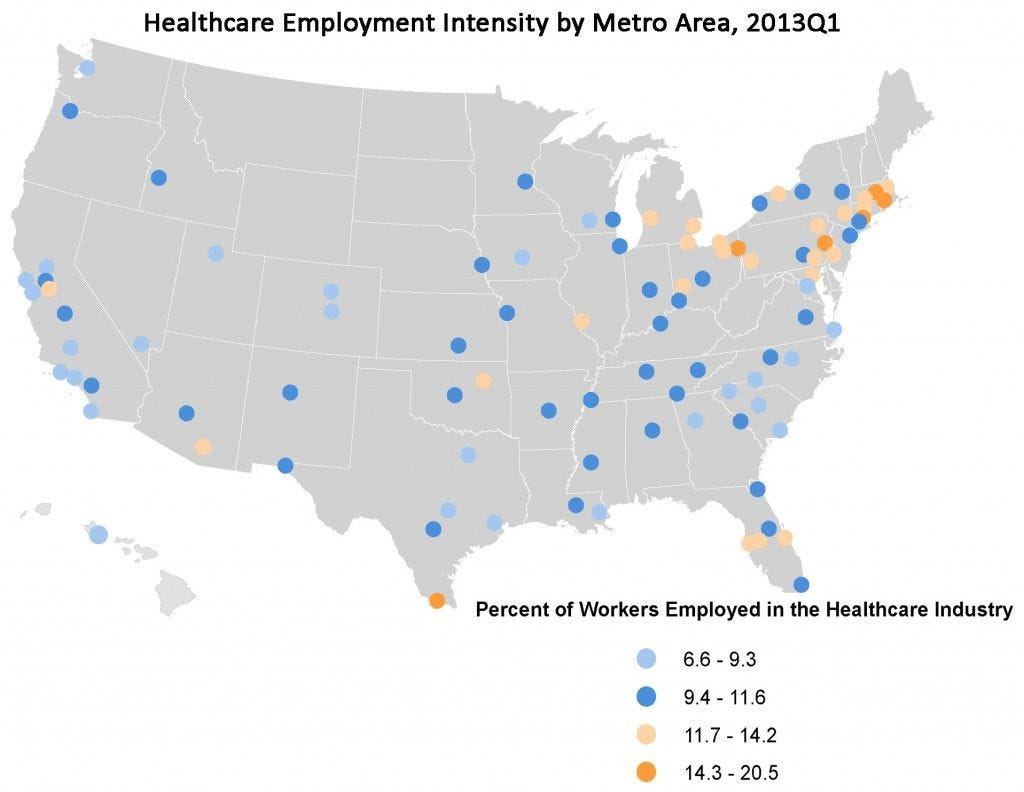 TOP 100 Healthcare Intensity