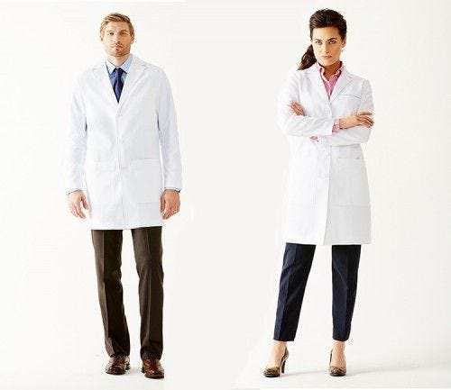 Men's Laennec Classic Fit Lab Coat & Women's Estie Classic Fit Lab Coat