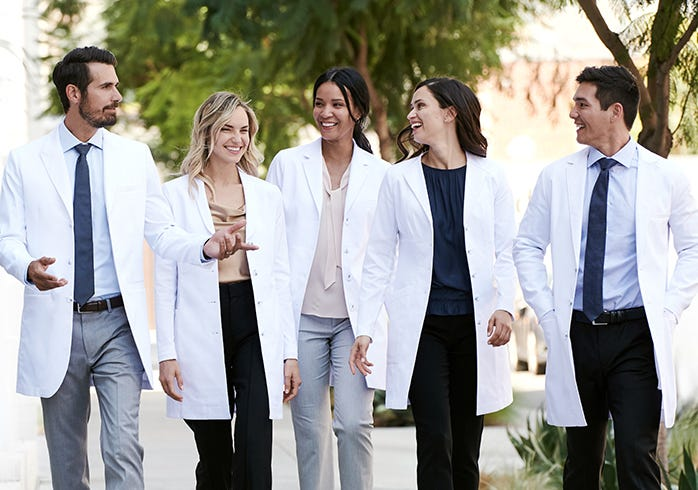 stretch lab coats for doctors