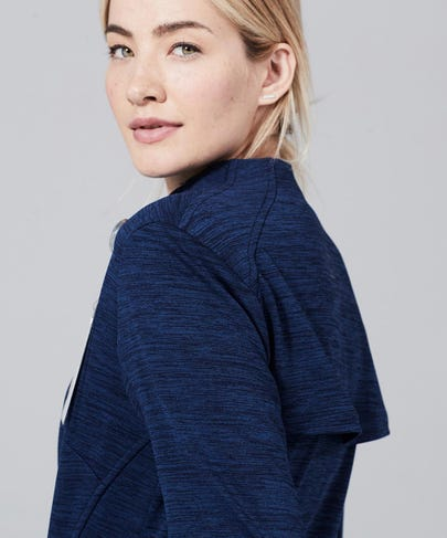 Ionic Women's Scrub Jacket-Navy
