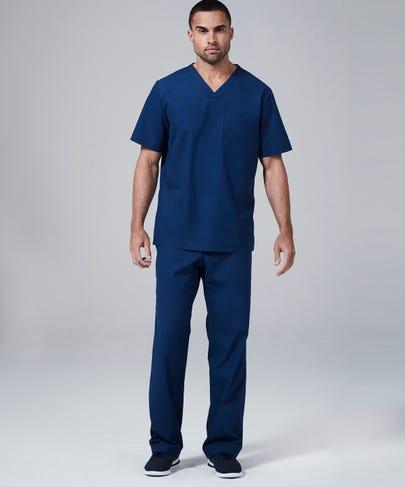 Modern Fit Mens Scrub Pants-Estate Blue