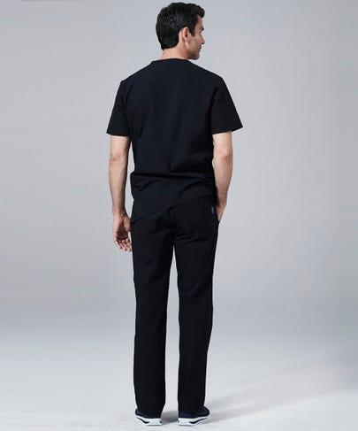 Classic Fit Mens Scrub Pants-Black