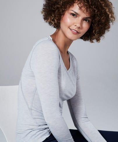 Women's Core One Long Sleeve Tee-Heather Grey