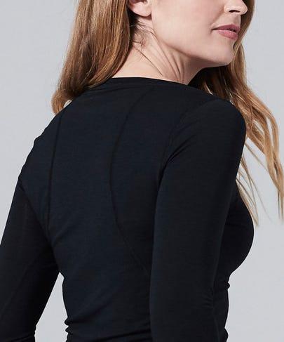 Women's Core One Long Sleeve Tee-Black