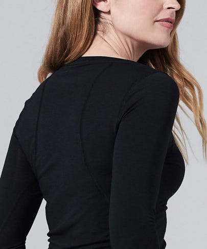 Women's Core One Long Sleeve Tee-Black