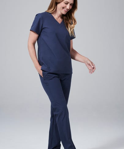 Blue Women's Scrub Pants