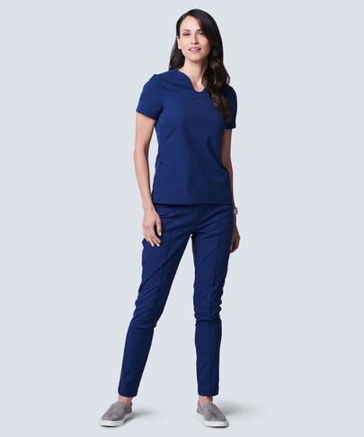 Women's Sola Scrub Top-XL-Navy Blue
