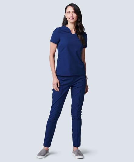 Women's Sola Scrub Top-XL-Navy Blue