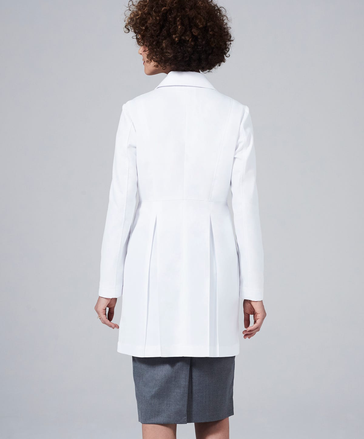 White lab apron -  M3 Miranda B Slim Fit Lab Coat
