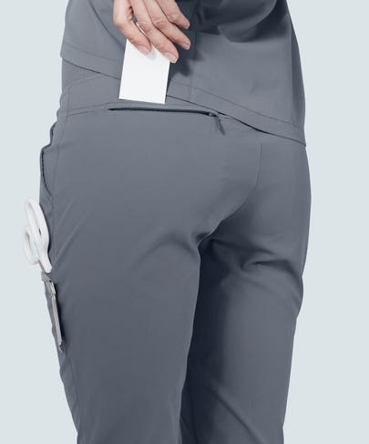 Women's Grey Scrub Pants