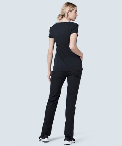 Women's black scrub pants Delta