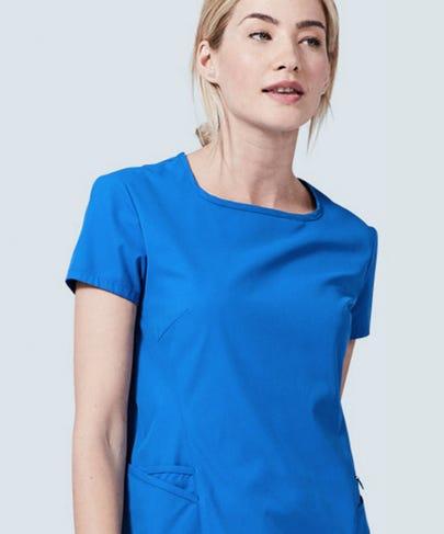 Women's Royal Blue Scrub Top Meridian