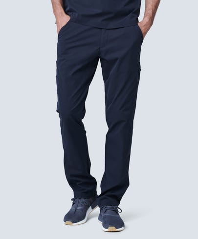 men's black scrub pants