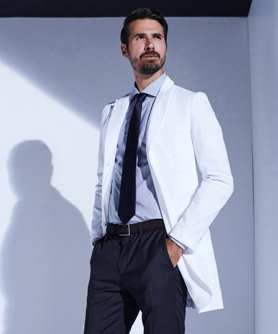 Bernard Slim Fit Stretch Lab Coat