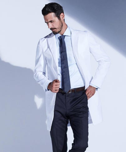 Osler Men's Slim Fit Stretch Lab Coat