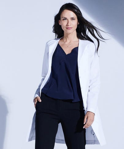 Vera G. Stretch Lab Coat For Women