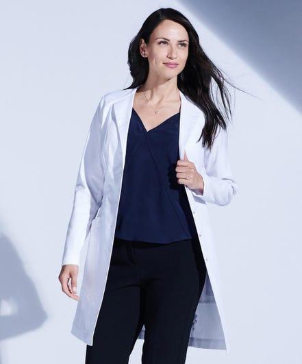 Vera G. Stretch Lab Coat For Women