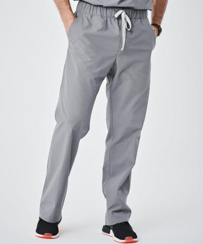 Modern Fit Mens Scrub Pants-Grey-S