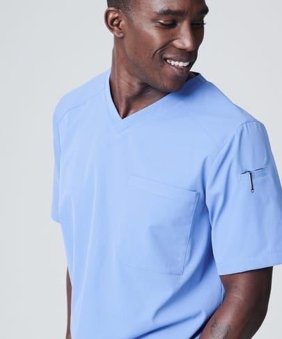 Ceil blue scrub top