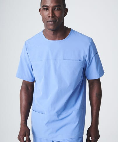 ceil blue men's scrub top front