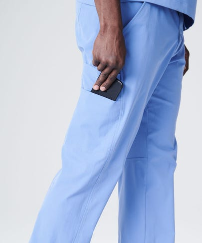 Ceil blue scrub pants