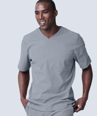 Men's Grey VNeck Scrub Top