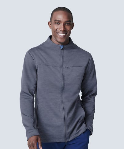 Men's Grey Scrub Jacket