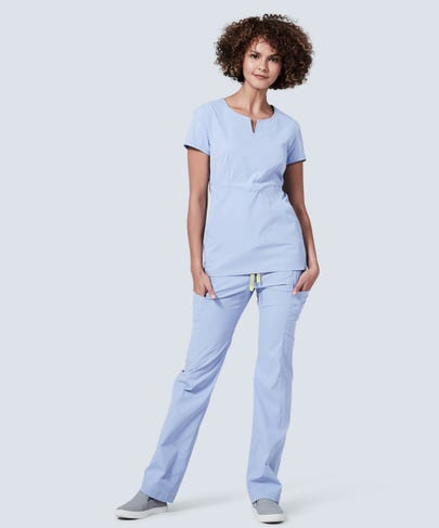Women's Ceil Blue Delta Scrub Pants