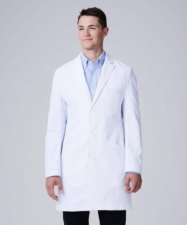 Vert mens lab coat