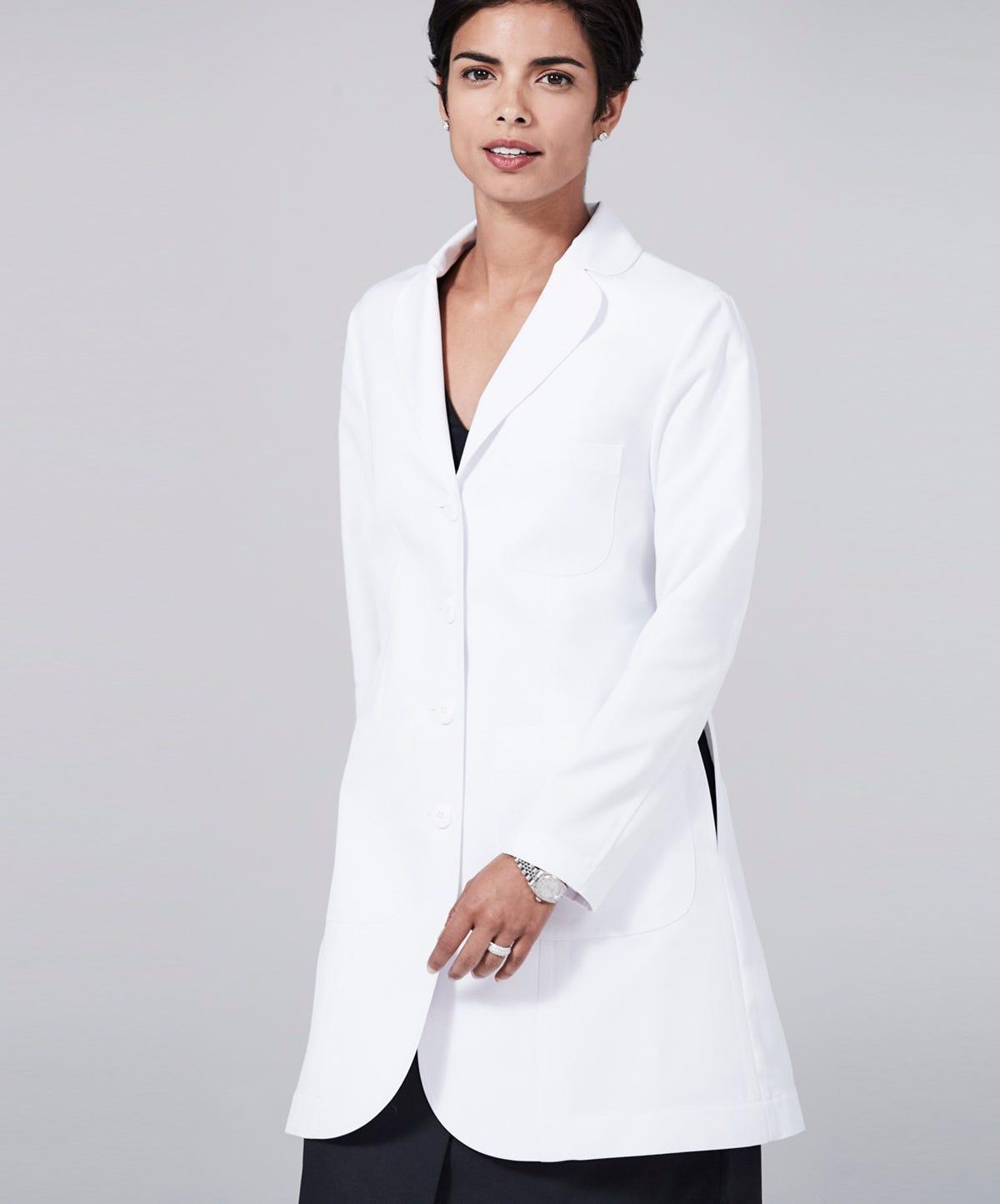 White apron for doctors online - M3 Ellody Lab Coat Petite Fit