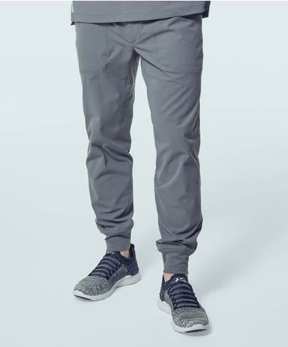Men's Ascent Jogger Scrub Pants-Grey-S