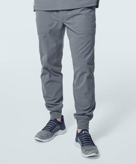 Men's Ascent Jogger Scrub Pants-Grey-S