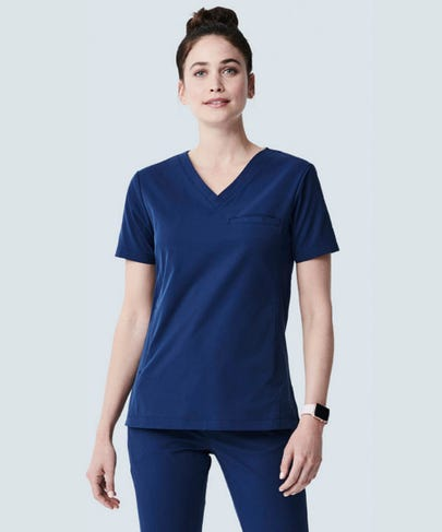 Vista Navy Blue V Neck Women's Scrub Top