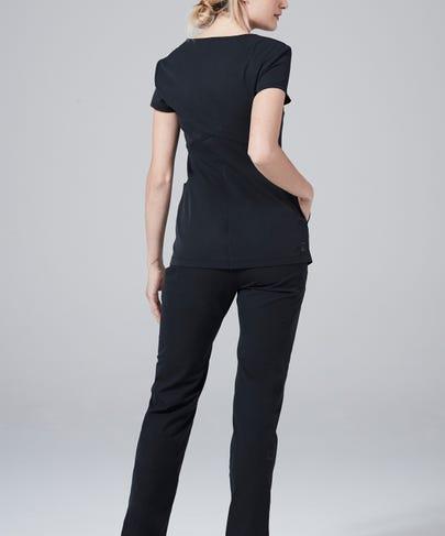 Delta Women's Scrub Pants-Black-XS