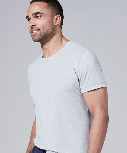 Men's Core One Short Sleeve Tee-Light-Heather-Grey-XXL