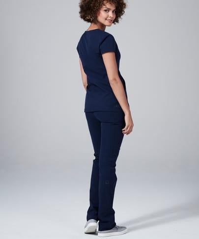 Delta Women's Scrub Pants-Navy-XS