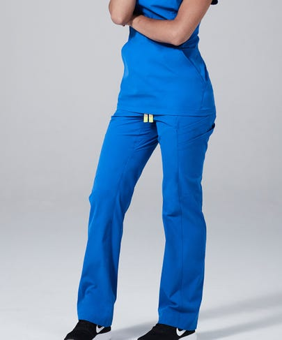Delta Women's Scrub Pants-Royal-XS