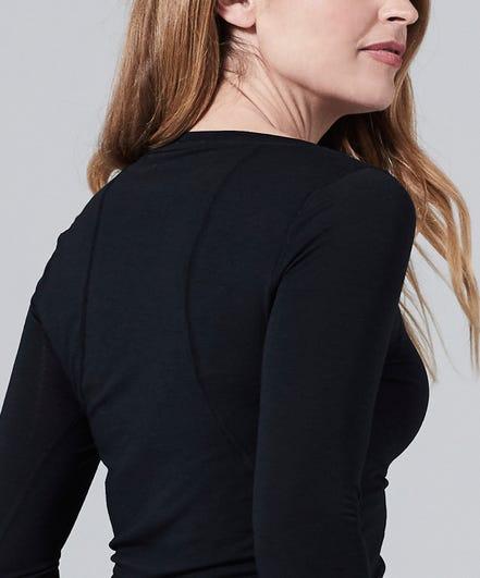 Women's Core One Long Sleeve Tee-Black-XS