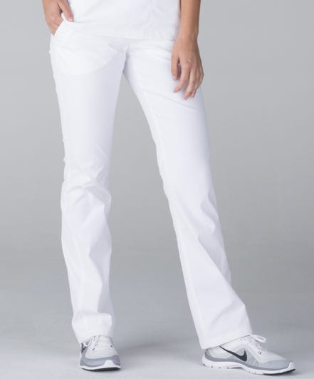 Delta Women's Scrub Pants-White-XS