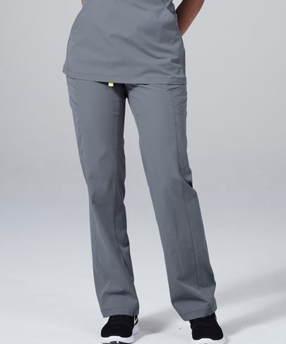 Delta Women's Scrub Pants-Grey-XS