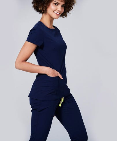 Argon Women's Scrub Pants-Navy-XS