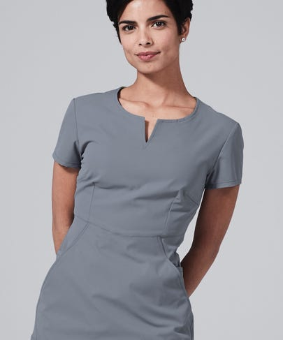 Horizon Women's Scrub Top-Grey-XS